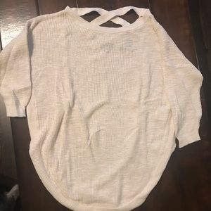 Express Cream Knitted Sweater
